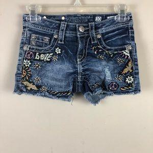 Miss me girls shorts size 10 denim embellished